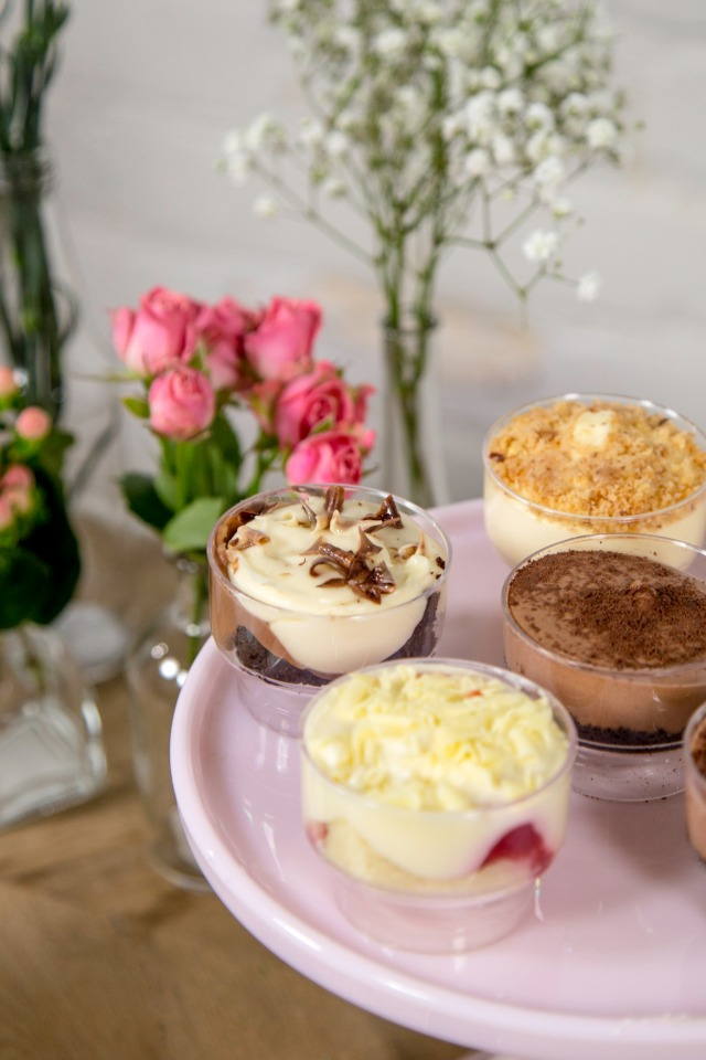 single serving mousse cups