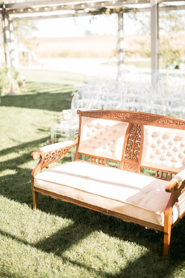 Vintage couch for parent seating
