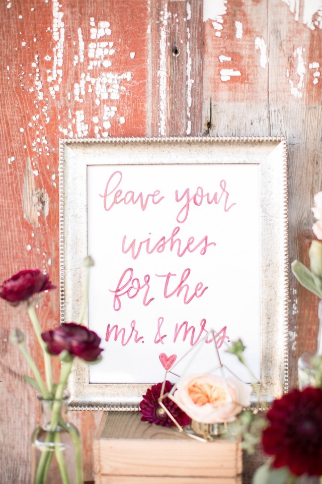 Cute calligraphy sign