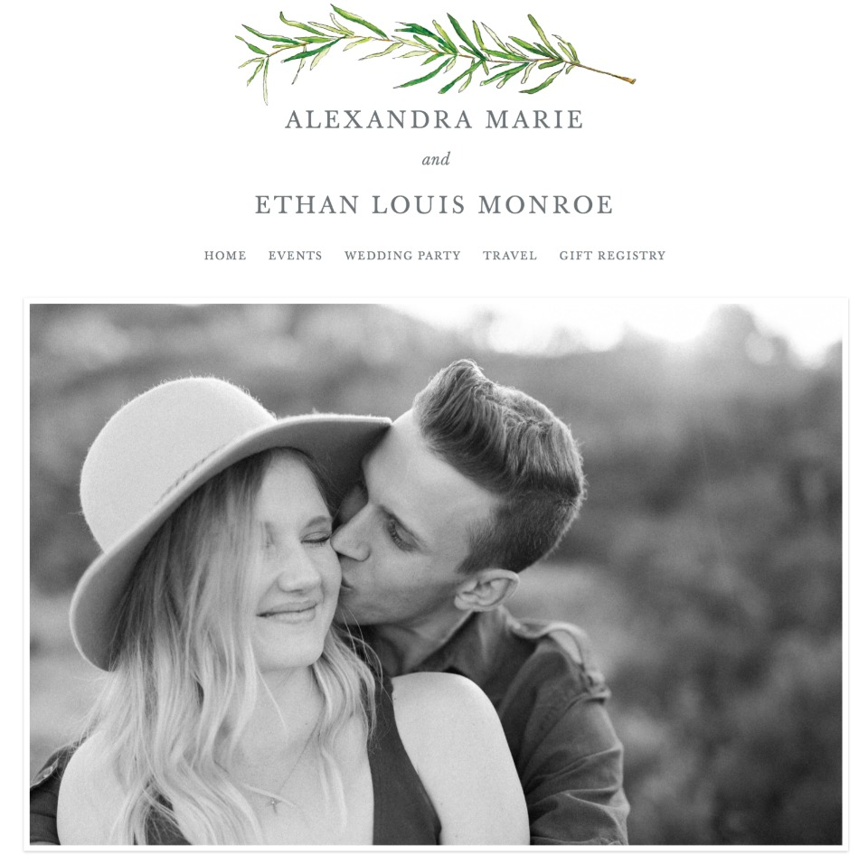minted free wedding websites