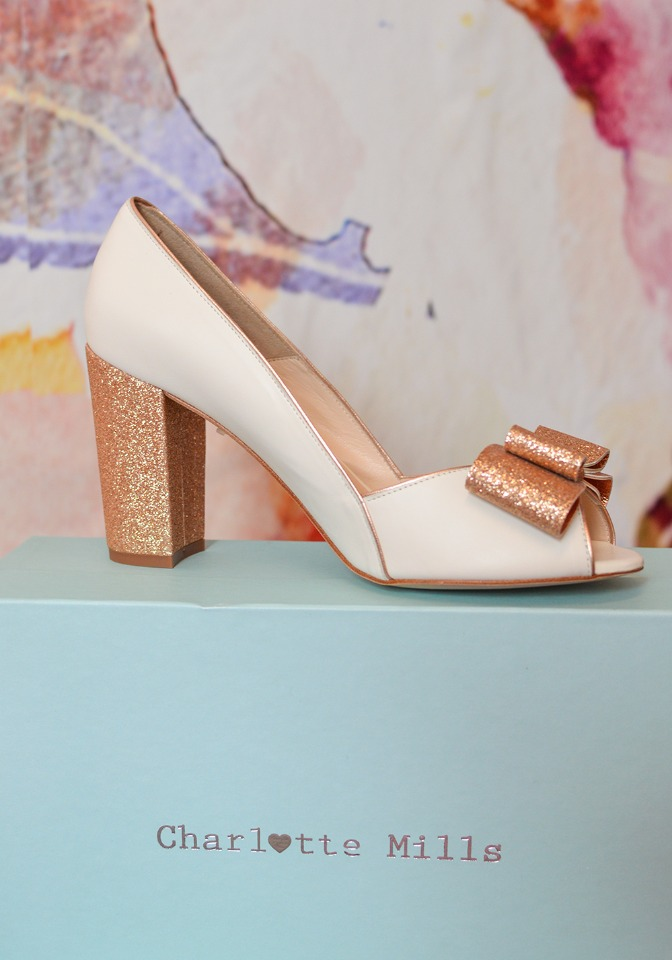 gold glittery Charlotte Mills shoes