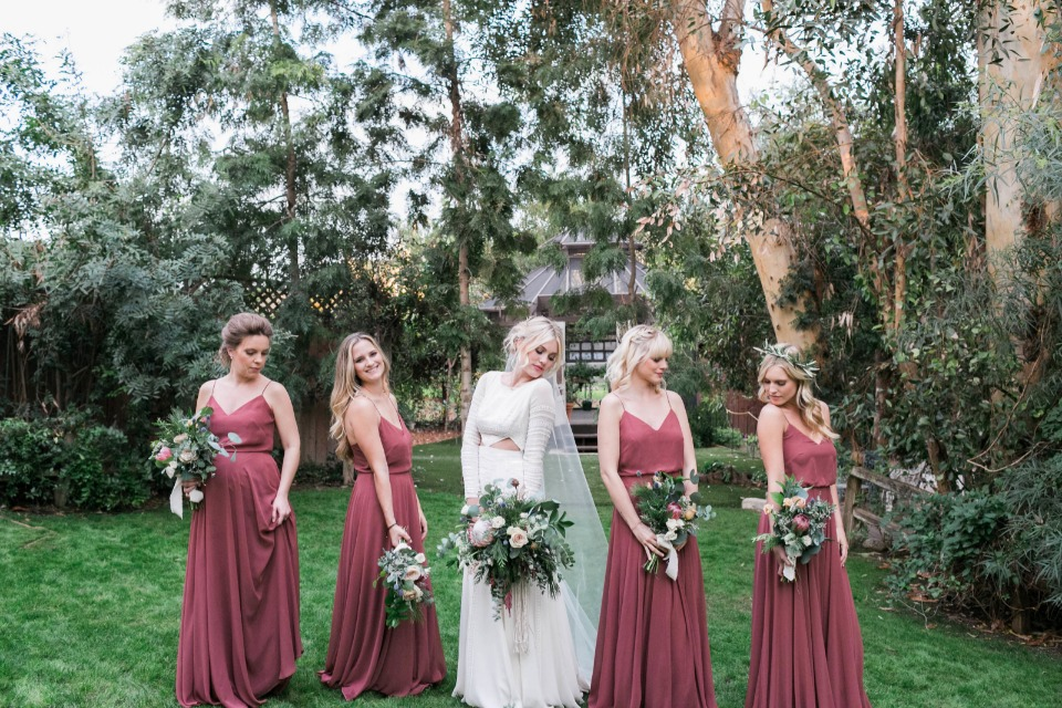 Stylish bridal party