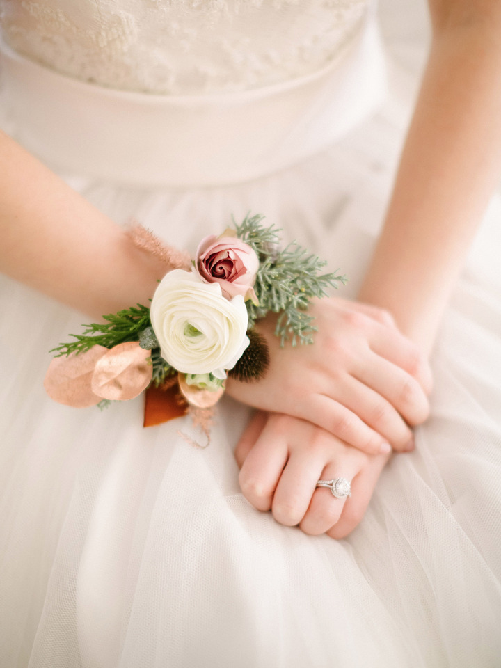 ranunculus wedding corsage