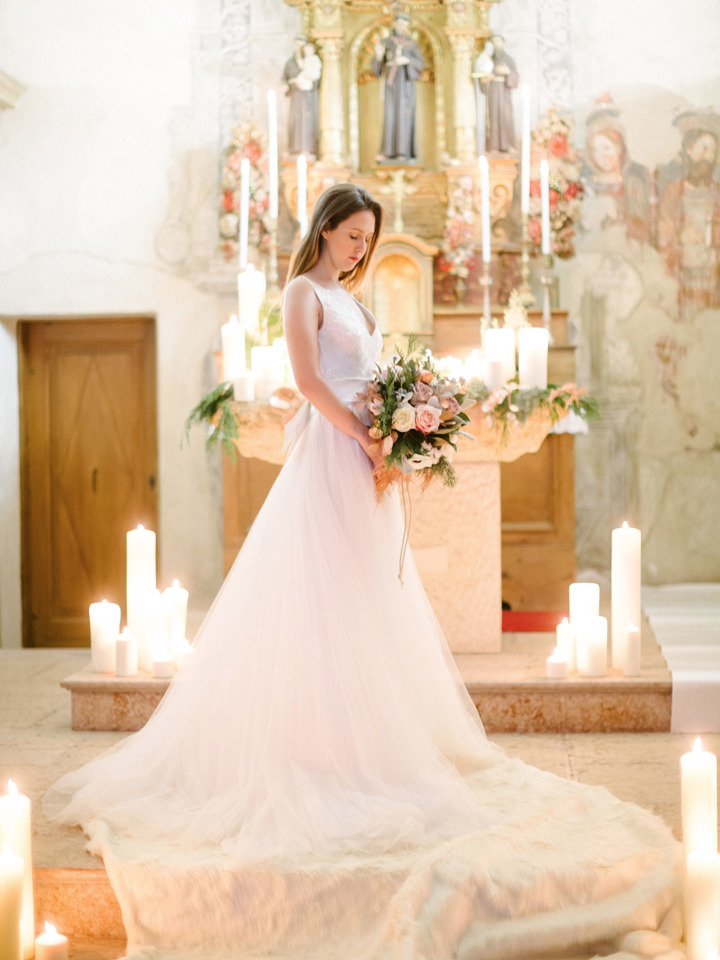 beautiful wedding ceremony in Italy