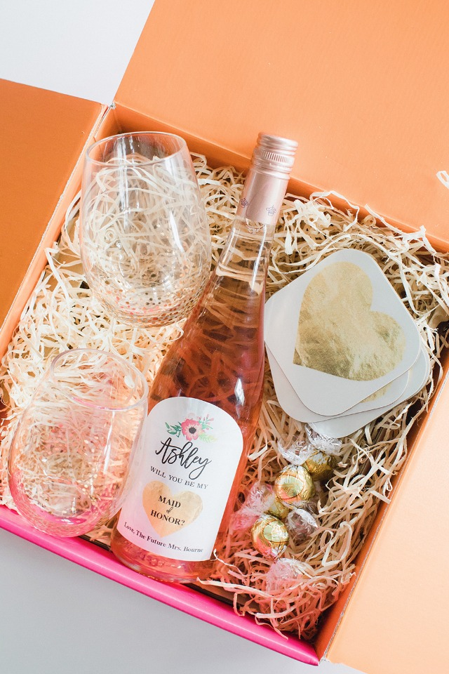 Rose all day - Will You be My Bridesmaid Box