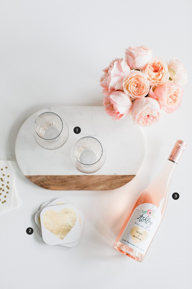what to put in a wine inspired will you be my bridesmaid box