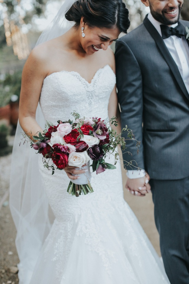 burgundy and pink bouquet by Seed Floral
