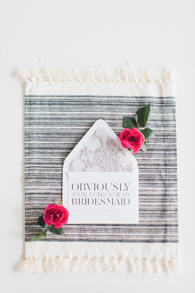 Obviously you're going to be my bridesmaid free printable