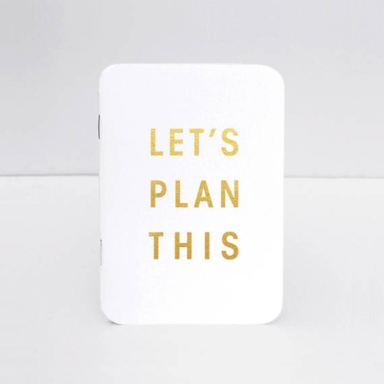 Add this custom Let's Plan This notepad to to your bride must haves list.