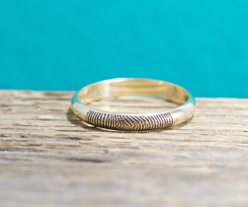 Classic dainty and personalized with your sweetie's fingerprint