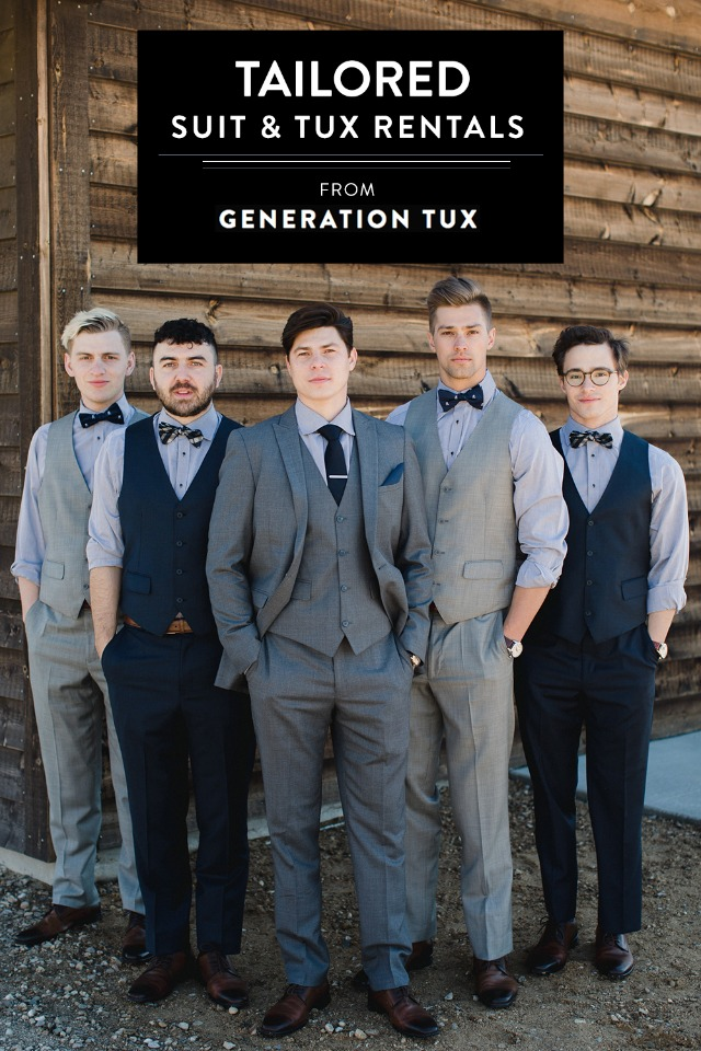 tailored suit and tux rentals from Generation Tux