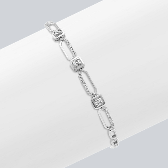 beautiful Mother's Day present - Geometric Diamond Bracelet