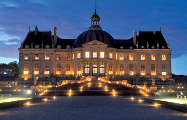 Chateau Vaux le Vicomteby by candlelight.