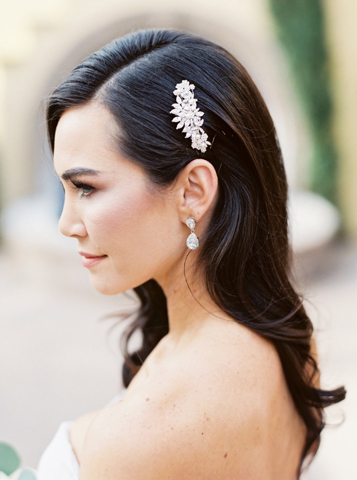 simple and sleek wedding hair