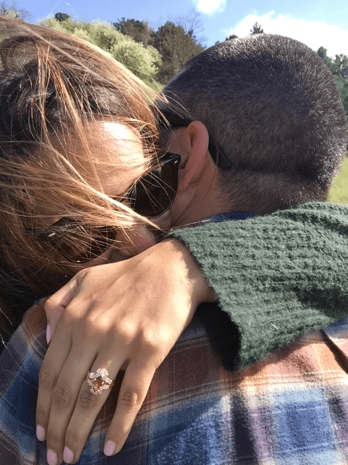 emotional proposal in Giverny France