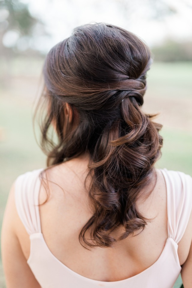 half up wedding hair idea