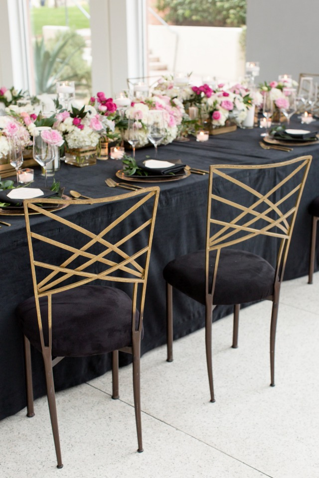 modern black and gold chairs