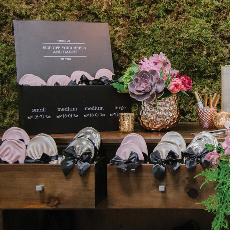 Heel pain no more with Rescue Flats at your wedding