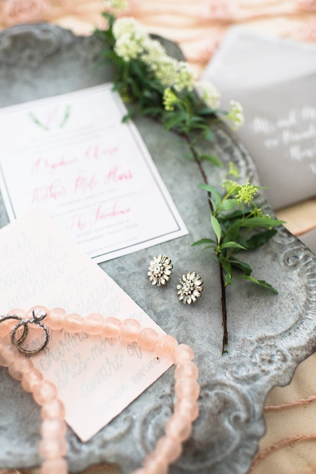 wedding jewelry and invitations