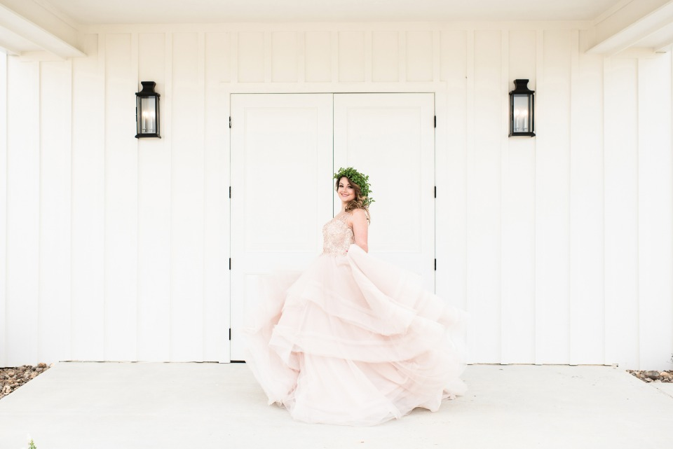 doing a little twirling in this gorgeous Martina Liana wedding dress