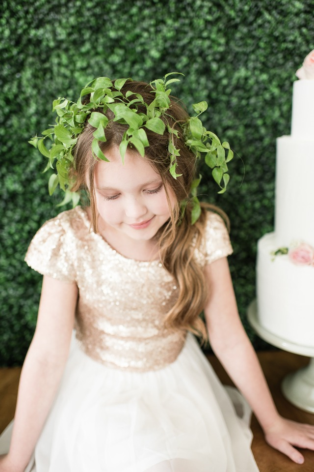 Midsummers Night Dream themed flower girl look