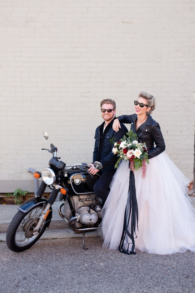 Rad bride and groom