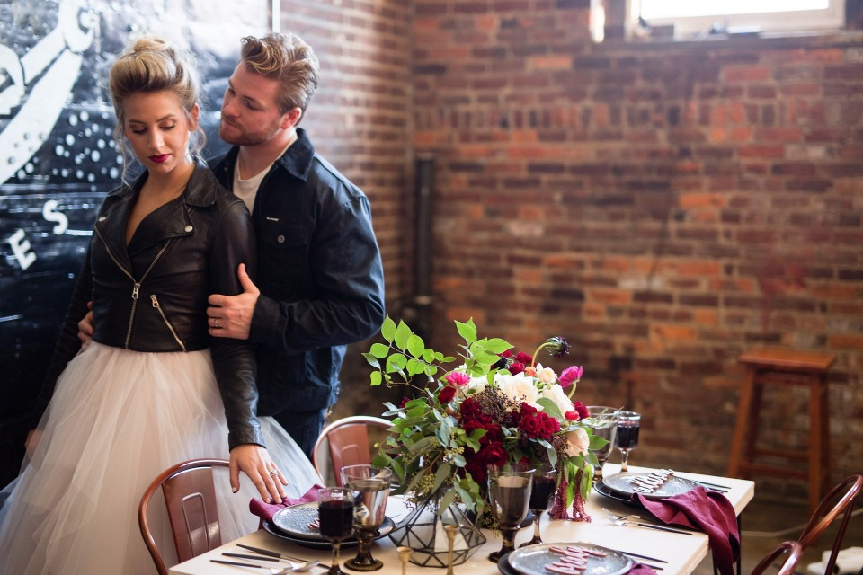 Industrial inspired wedding ideas for the edgy couple