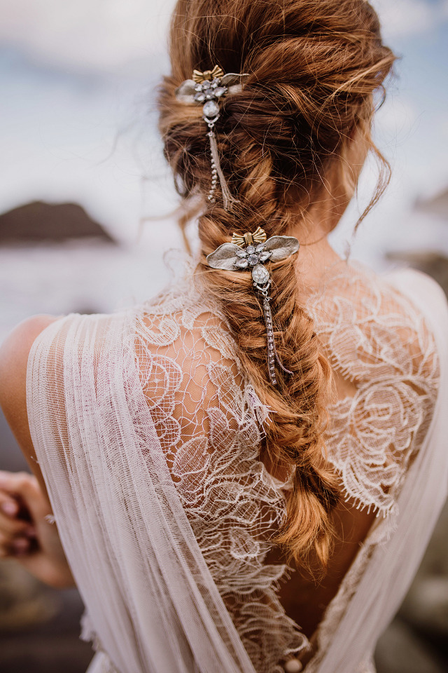 beautiful cascading hair pieces for wedding