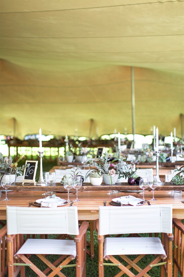 wedding reception under a giant tent