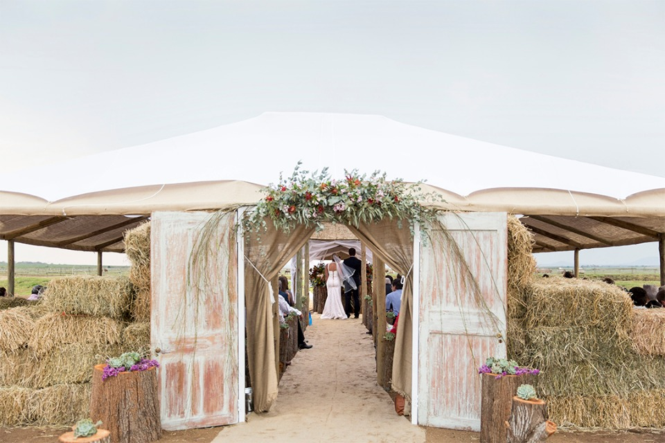 tented wedding chapel