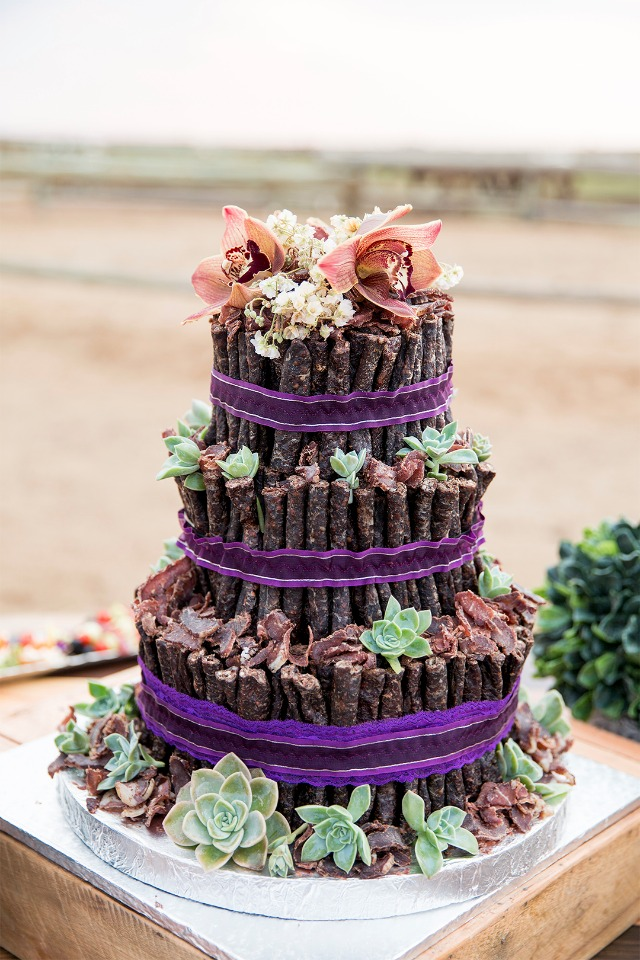 beef jerky wedding cake