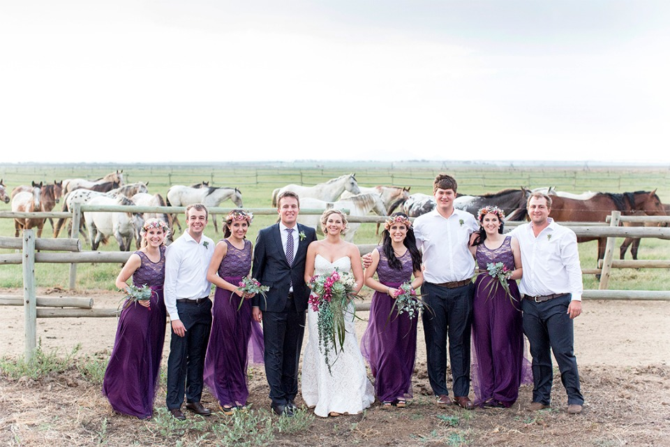 ranch wedding party style
