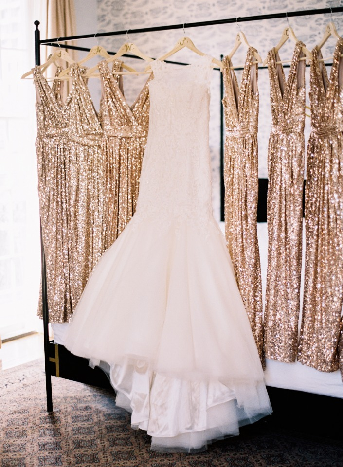 Spakly rose gold dresses