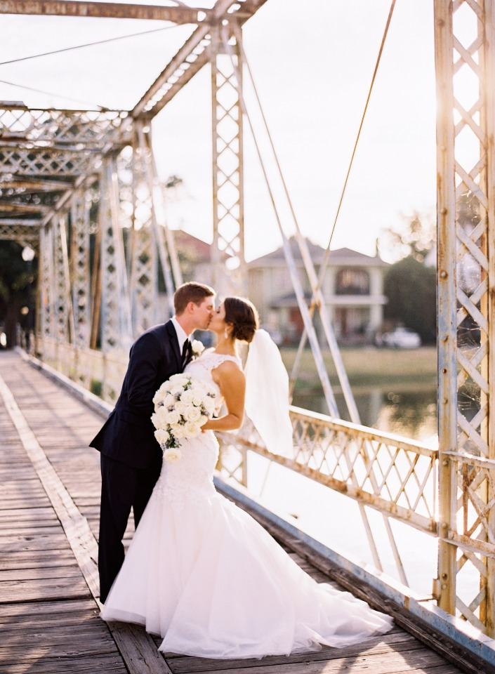 Pretty bridge ceremony in New Orleans