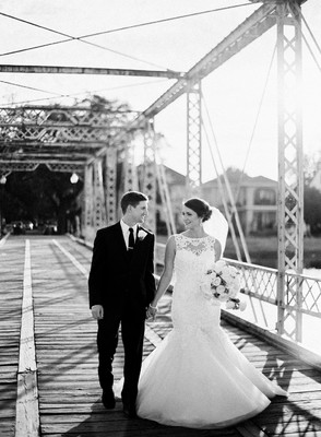 Elegant Bridge Wedding over Bayou St. John in New Orleans
