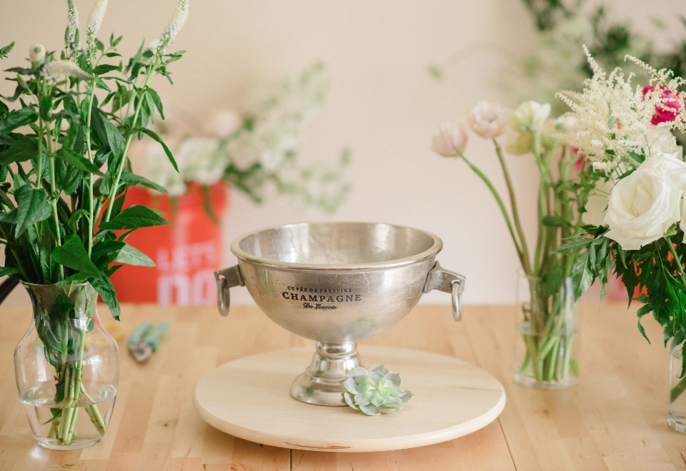 DIY compote bowl arrangement