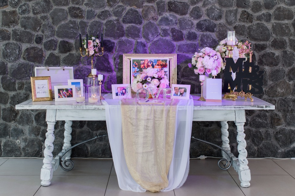 guestbook and welcome table