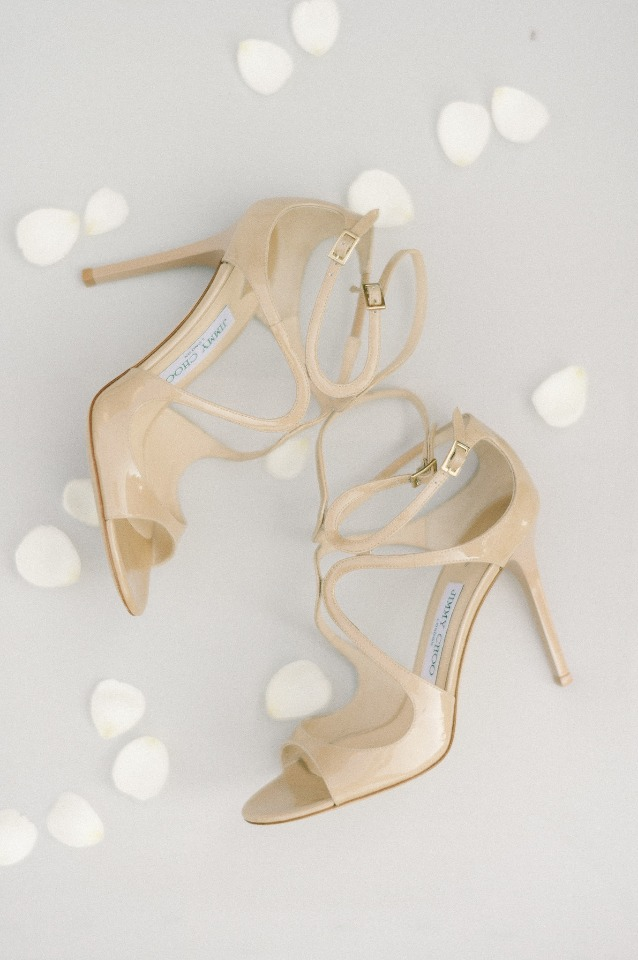 Nude Jimmy Choo pumps for the bride