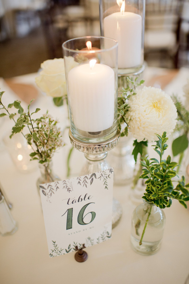 floral inspired wedding table numbers