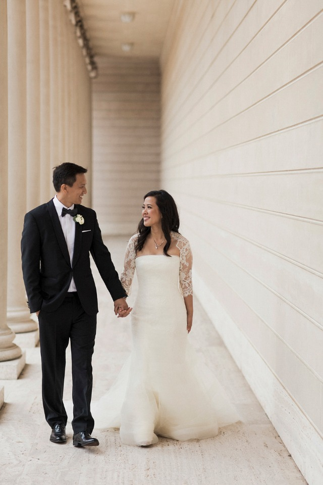 classic bride and groom style