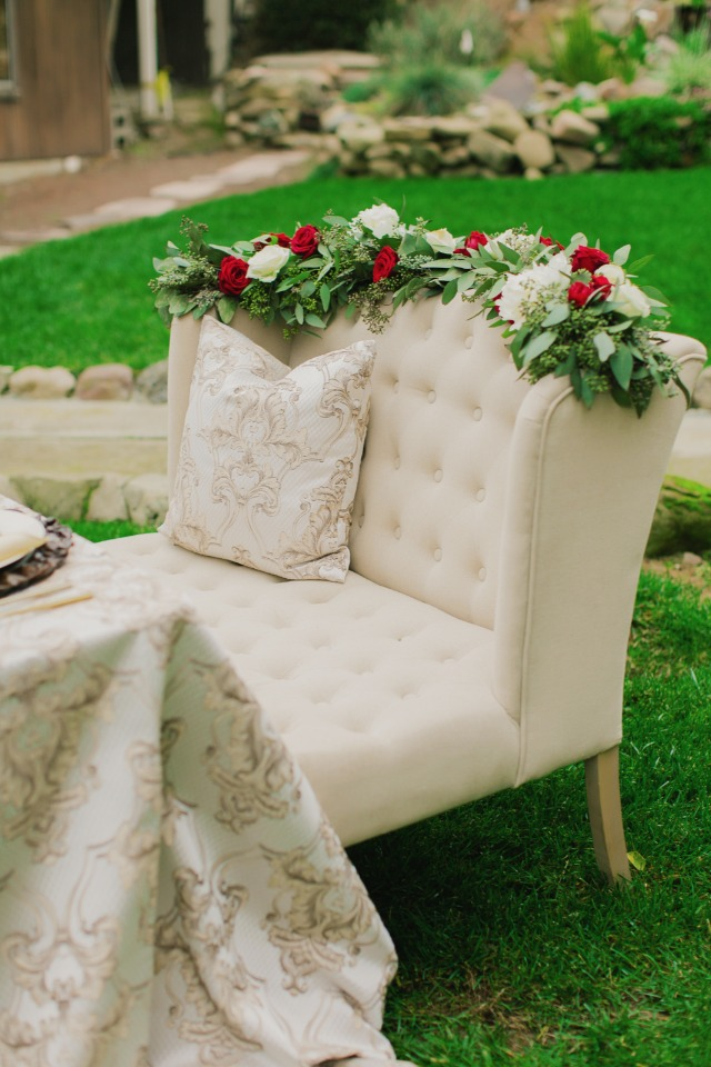 Sweetheart table seating idea