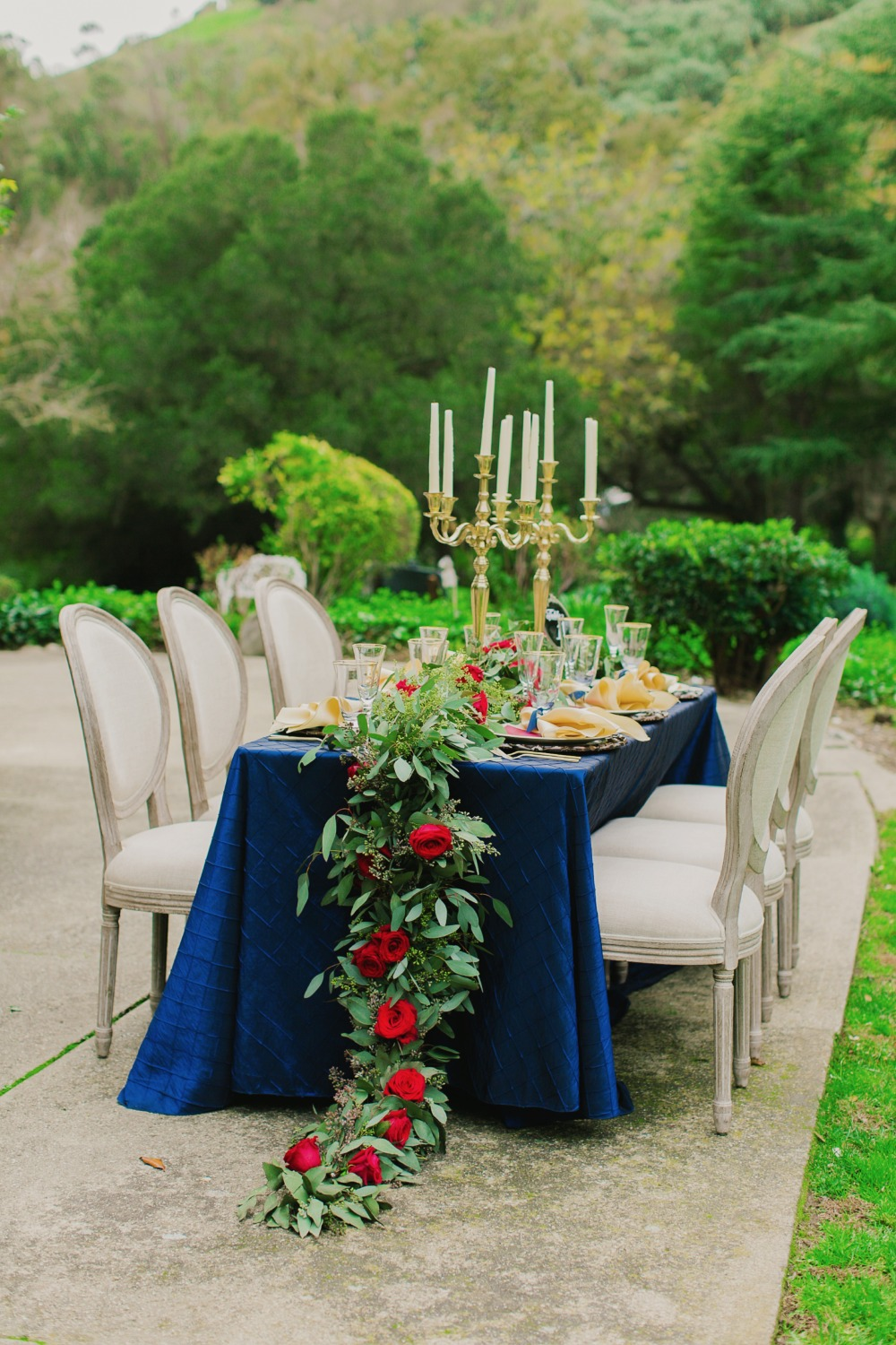 Gallery - Beauty and the Beast Wedding Ideas in Gold, Navy and Red