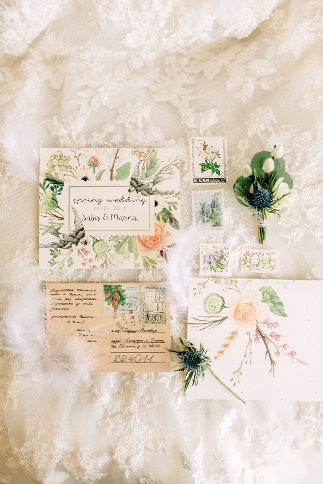 Spring invitation suite