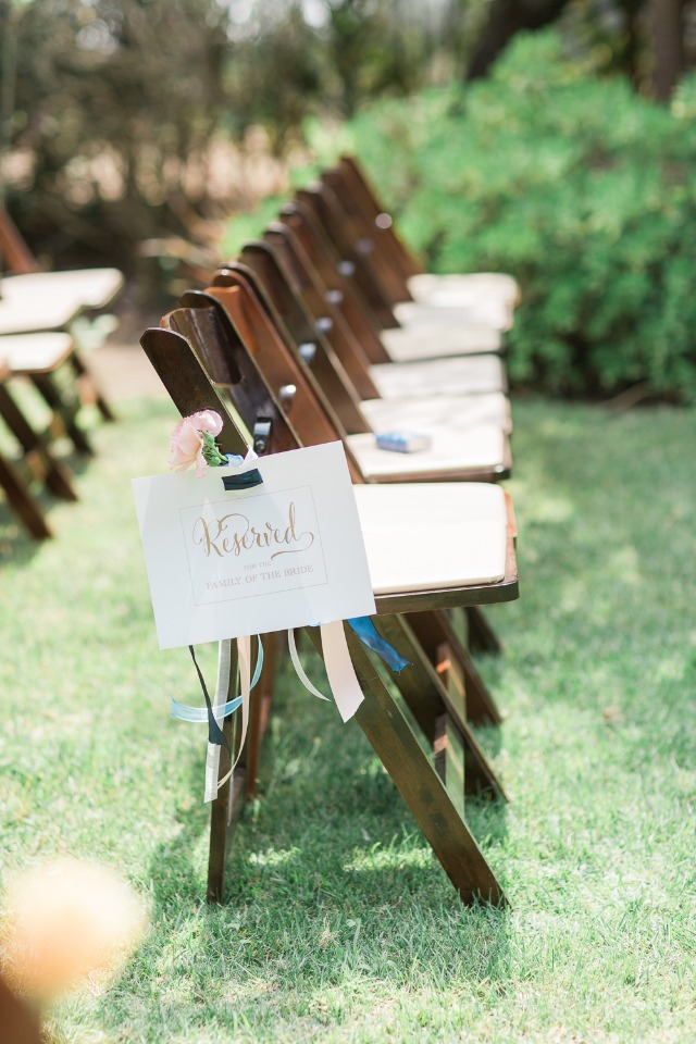 reserved wedding seats