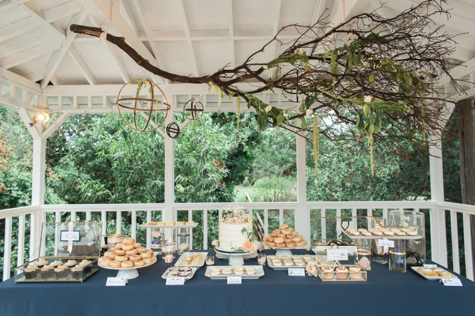 organic and chic dessert table