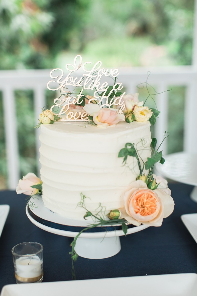 I love you like a fat kid loves cake wedding cake topper