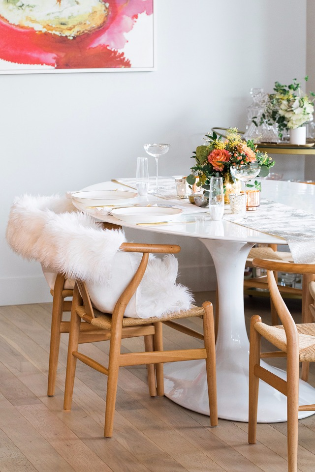 boho chic dinner party