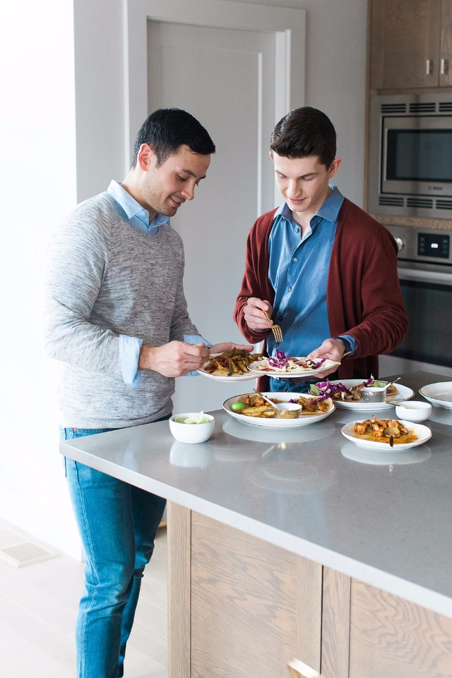 preparing meals with your partner is a healthy life long acitivity