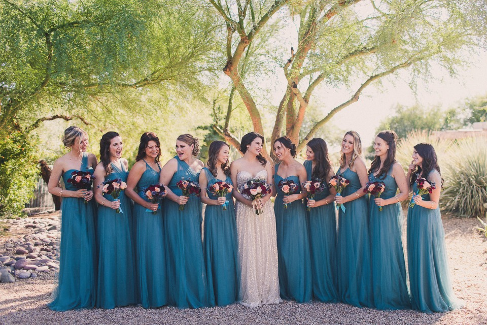 Annabelle bridesmaid dress by Jenny Yoo in vintage teal