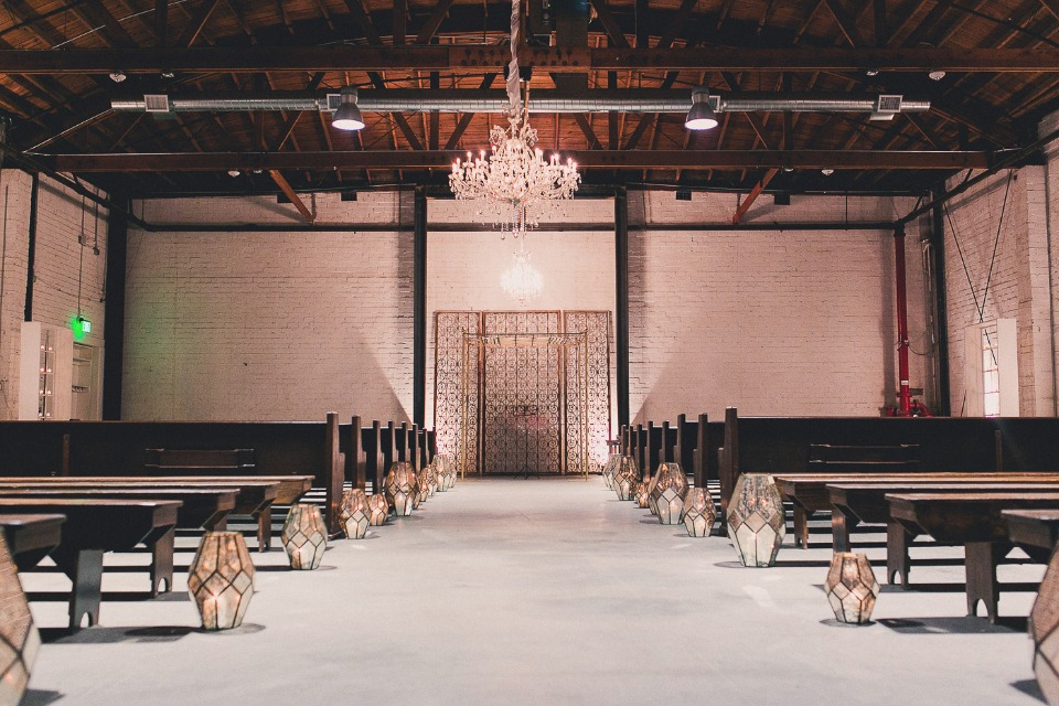 Glam industrial ceremony